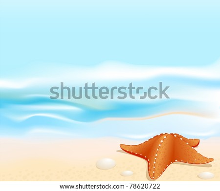 vector marine landscape with a