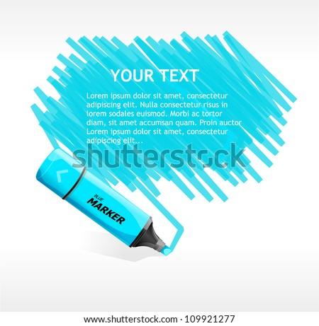 Vector marker text box