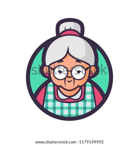 Vector mascot, cartoon, and illustration of a Grandma kitchen. Stock photo ©