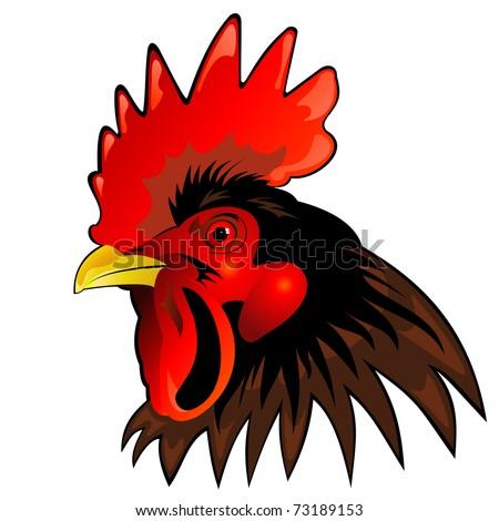 vector mascot of rooster head - stock vector