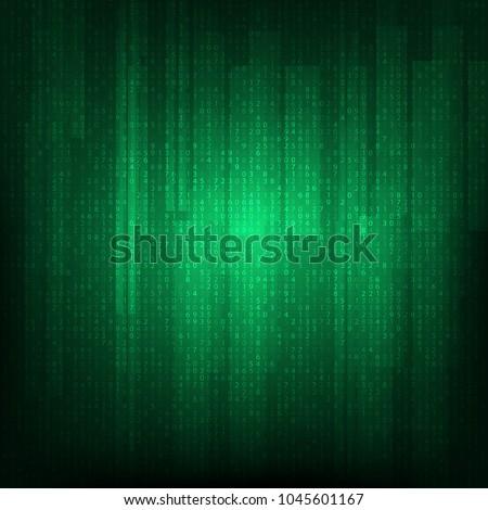 vector matrix background cyber