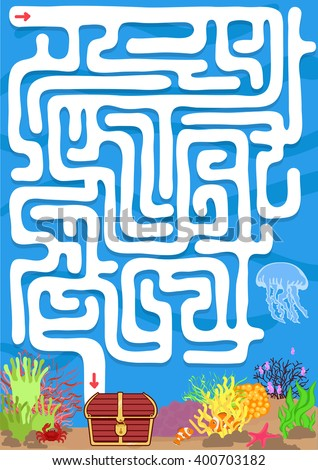 vector maze game with find