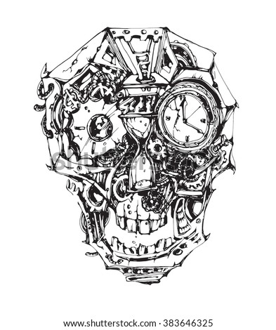 vector mechanical skull