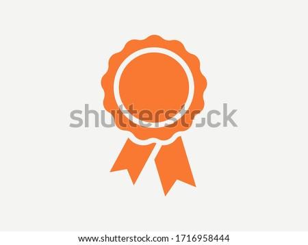 Vector medal icon. Certified Emblem Badge Emblem Symbol Stockfoto ©