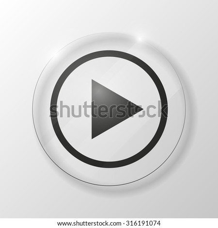 vector media player button icon #316191074