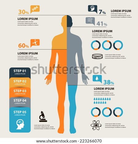 Vector Medical and health Infographics concept