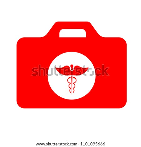 vector medical case sign - insurance symbol