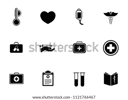vector medical & health care sign symbols set - medicine illustrations, clinic, pharmacy and hospital icons