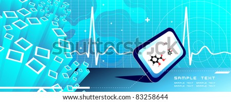 Vector medical high tech background, science abstract - stock vector