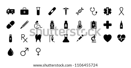 Vector Medical Icon Bundle. Hospital Isolated Icon.