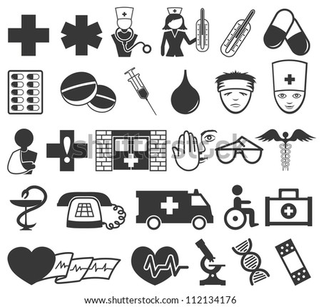 Vector. 28 medical icons.