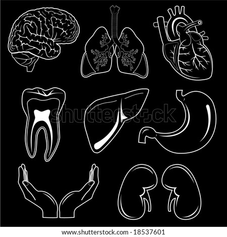 Vector medical icons. Black and white. Simply change. Other medical icons you can see in my portfolio.