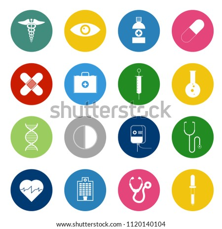 vector Medical icons - health care sign symbols