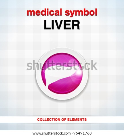 Vector medical icons / liver / series of icons