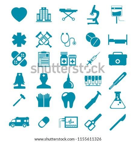 Vector Medical Icons Set.