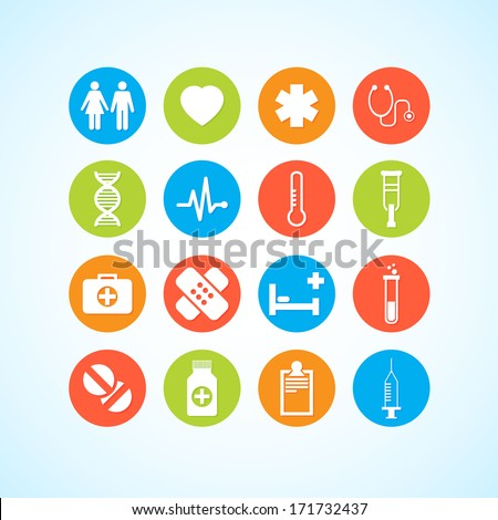 Vector Medical Icons 16 Set