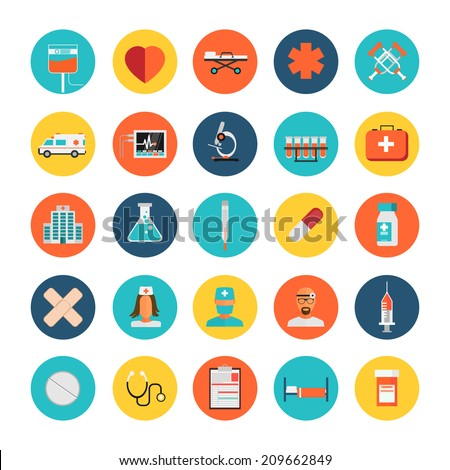 Vector Medical Icons 25 Set