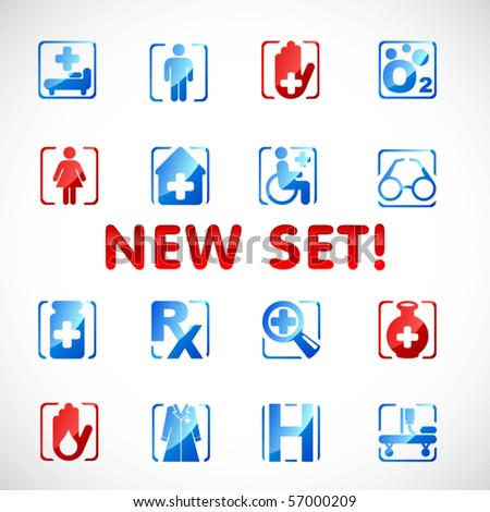 Vector medical icons. Set 3 - stock vector