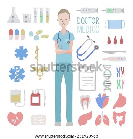 Vector medical illustration set