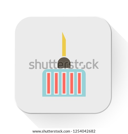 vector medical needle. Flat illustration of medical injection shot isolated on white background. vaccine treatment sign symbol. medical drug icon