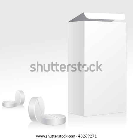 Vector Medication Boxes and Pills. Graphic Design Editable For Your Design.