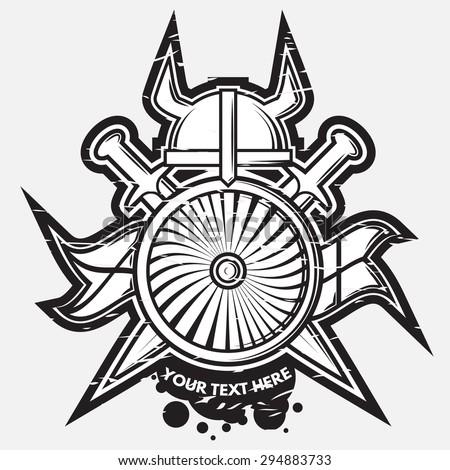 vector medieval weapon logo