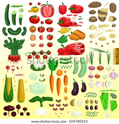 Vector mega vegetable set