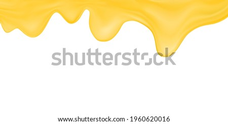 Vector melted cheese or butter isolated on white background.Processed cheese wallpaper.