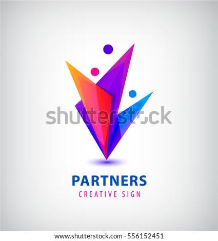vector men group logo  human