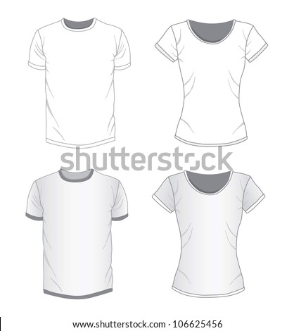 Vector Men's and women's shirt design templates