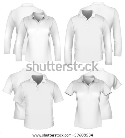 Vector. Men's and women's shirt design templates.