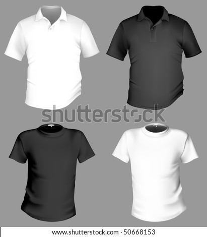 Black and white t shirt template full version free for Free download t shirt design software full version