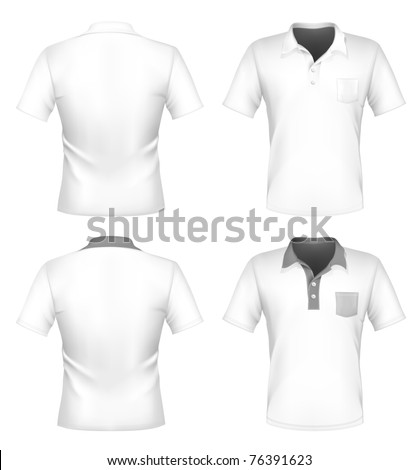 Vector men 39 s polo shirt design template with pocket for Front pocket t shirt design