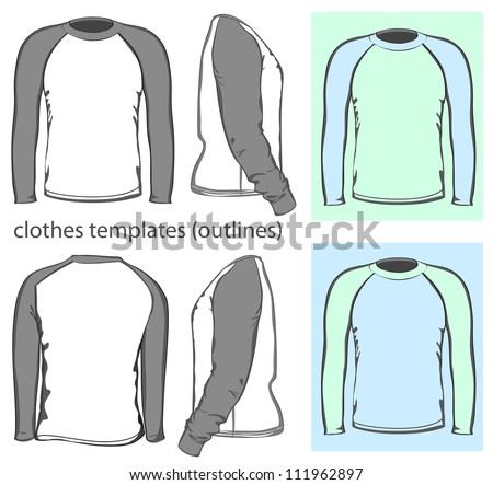 Download template kaos raglan vector