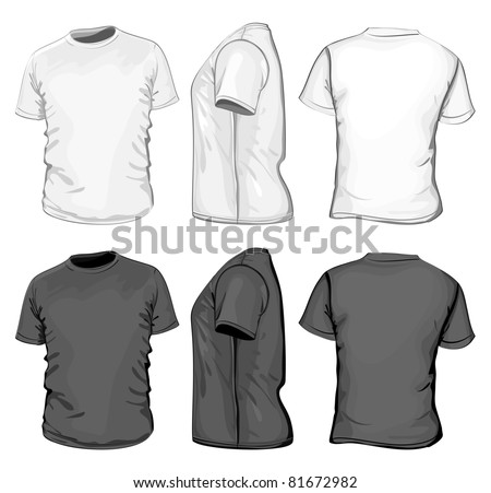 vector men's t shirt design