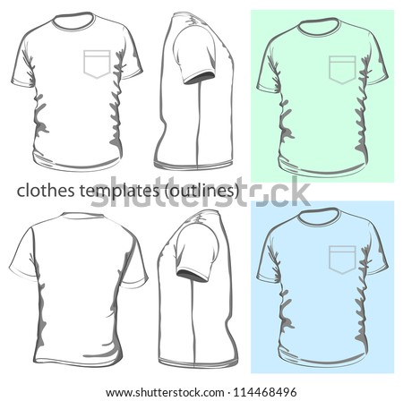 Tshirt vector black shirt mens t shirt design template front back and side view pronofoot35fo Choice Image