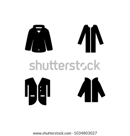 Vector Men Women And Baby Clothes Icon Set Flat Symbols Set Icons