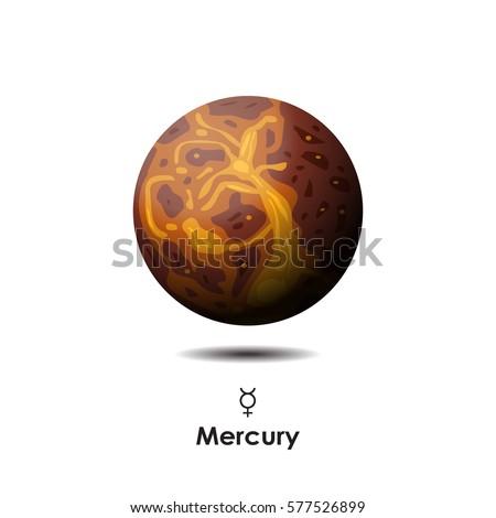 vector mercury on white