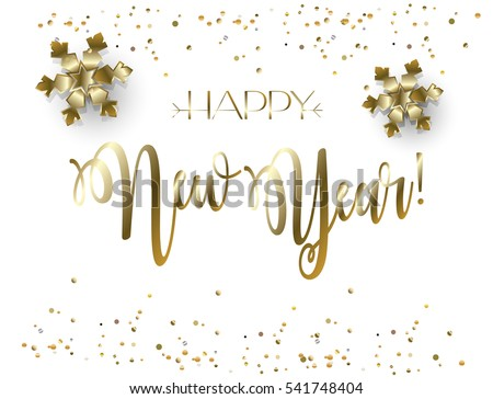 vector 2018 merry christmas and happy new year lettering greeting card with glitter snow