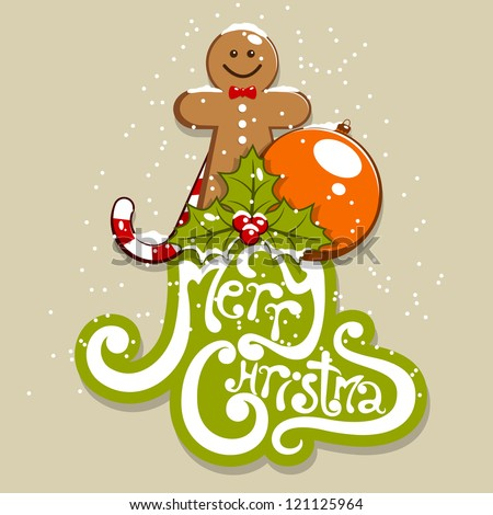 vector merry christmas greeting