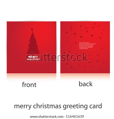 vector merry christmas greeting card template. vector christmas tree. christmas brochure.