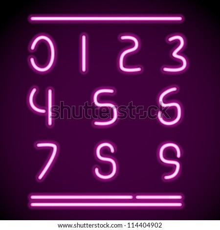 Vector mesh realistic letters of neon tubes. EPS10 opacity