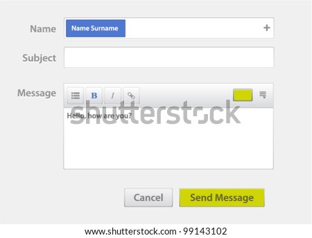 Vector message form