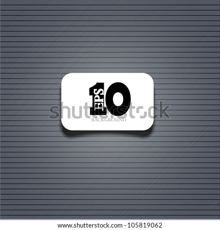 Vector metal background with sample text. Eps 10