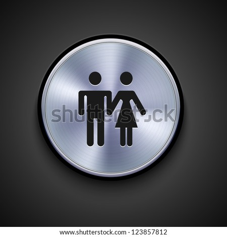 vector metal icon on gray background. Eps10 #123857812
