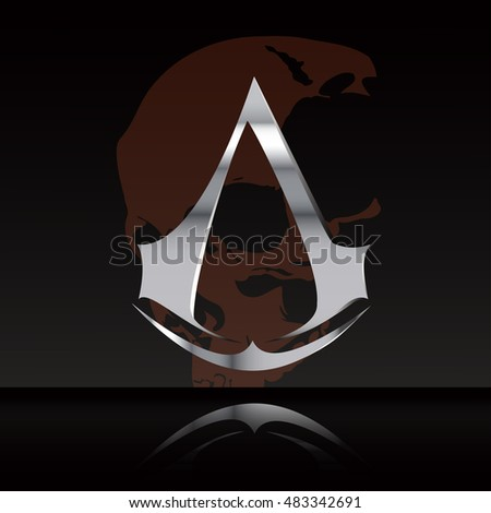 vector metal logo isolated on