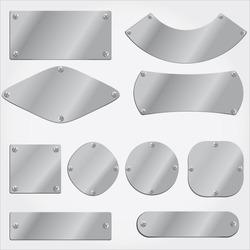 vector metal plates set,  fully editable