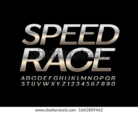 vector metal sign speed race