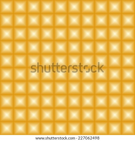 Vector metal texture. Golden abstract background. Pattern from golden tiles - seamless vector background