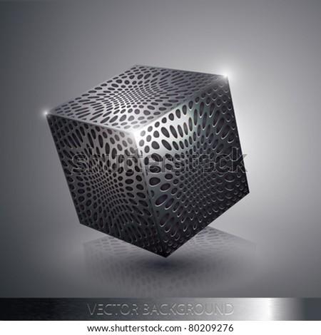 Ficha de Kira Stock-vector-vector-metallic-cube-80209276